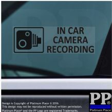 5 x In Car Camera Recording Stickers-BLACK-Window Security Signs,Car,Taxi CCTV